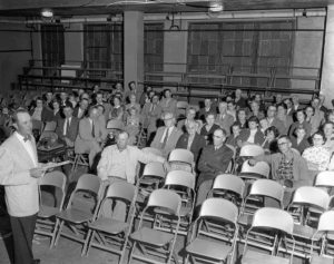 1955 Alfalfa County Farm Bureau resolutions committee meeting