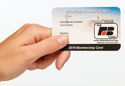 The Oklahoma Farm Bureau membership card