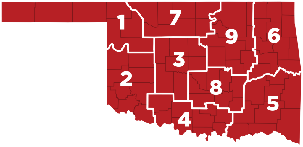 Oklahoma Farm Bureau District Map