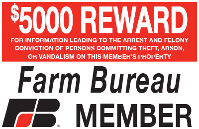 Oklahoma Farm Bureau Reward Sign Program