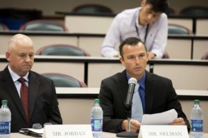 Chad Selman testifying at congressional field hearing July 22